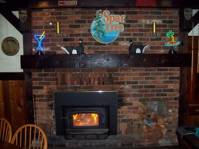 Cozy Spartree Pub Fireplace!